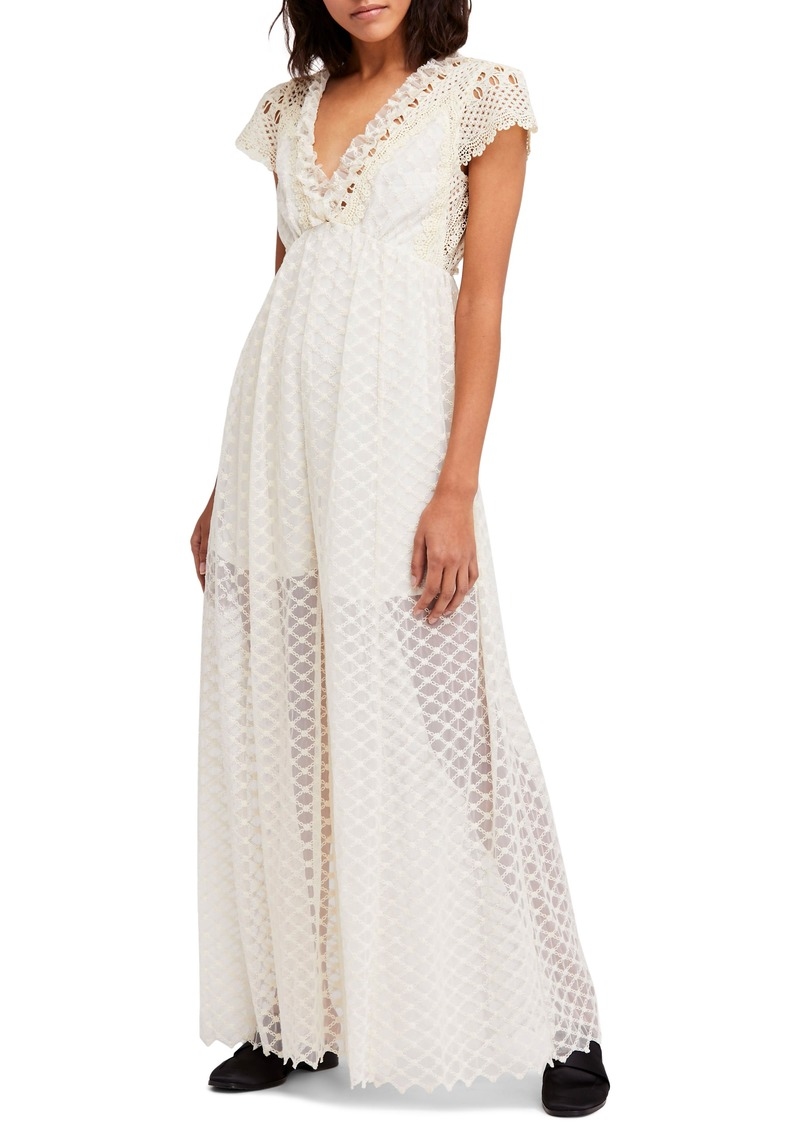Free People Chleo Embroidered Jumpsuit