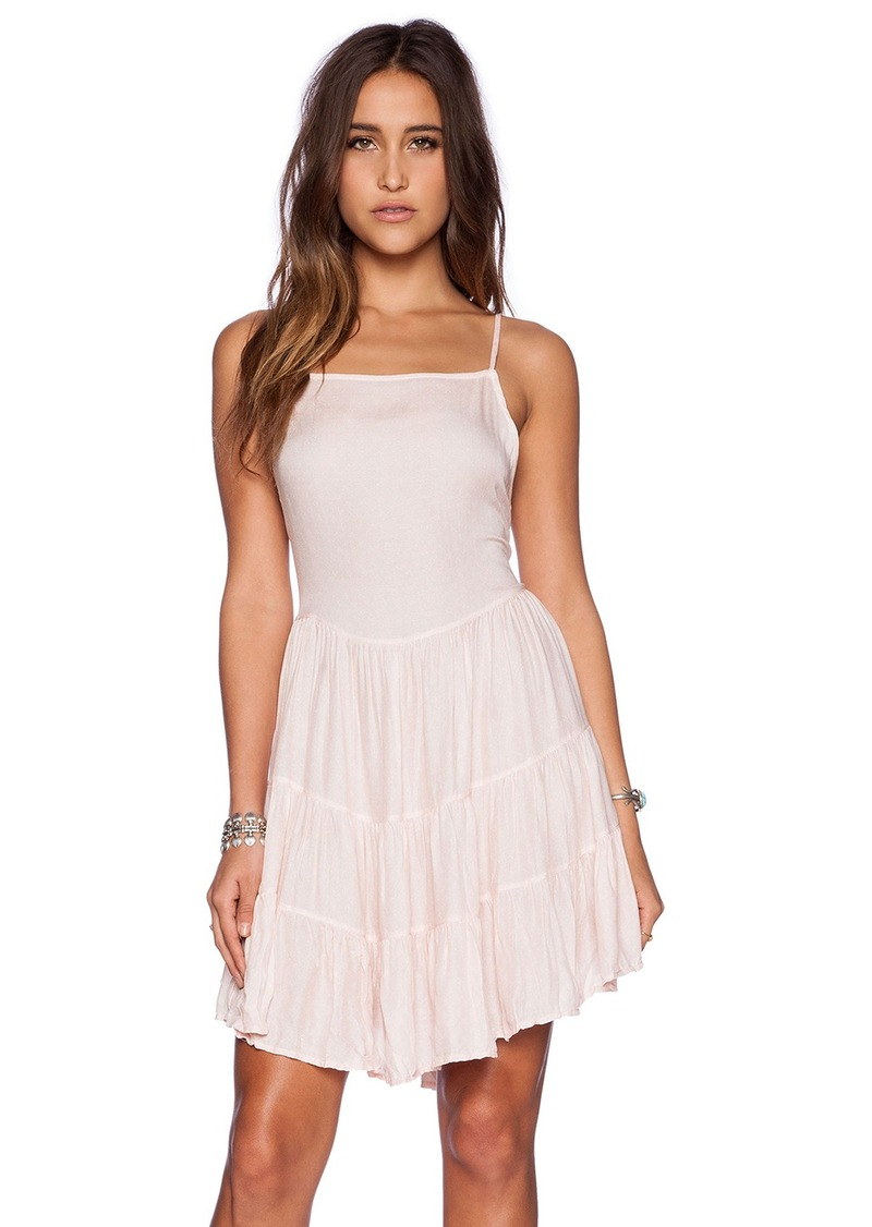 Free People Circle of Flowers Slip Dress