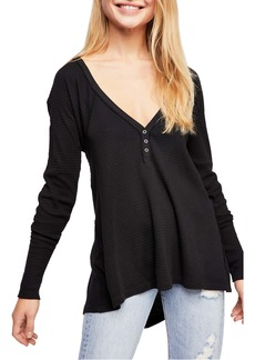 Free People Citrine Textured Cotton Blend Top