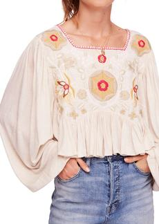Free People Claudine Peasant Top