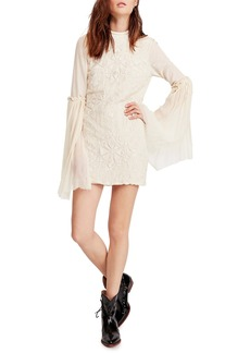 Free People Cleo Long Sleeve Minidress