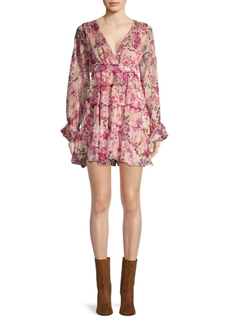 Free People Closer To The Heart Floral Long-Sleeve Dress