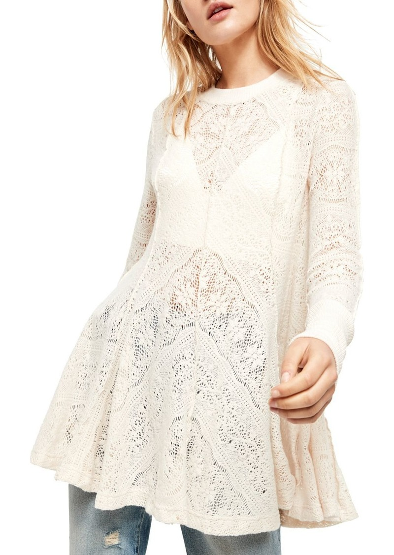 Free People Coffee In The Morning Lace Tunic
