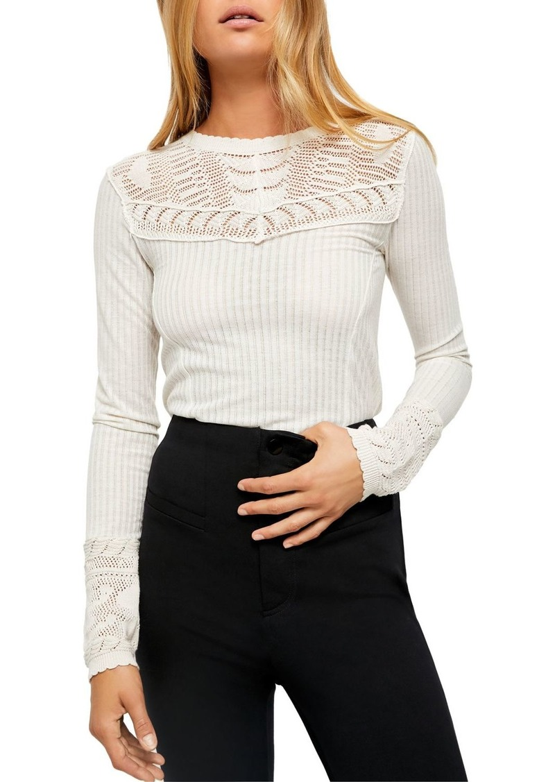 Free People Colette Pointelle Detail Sweater