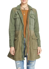 Free People Colorblock Military Jacket