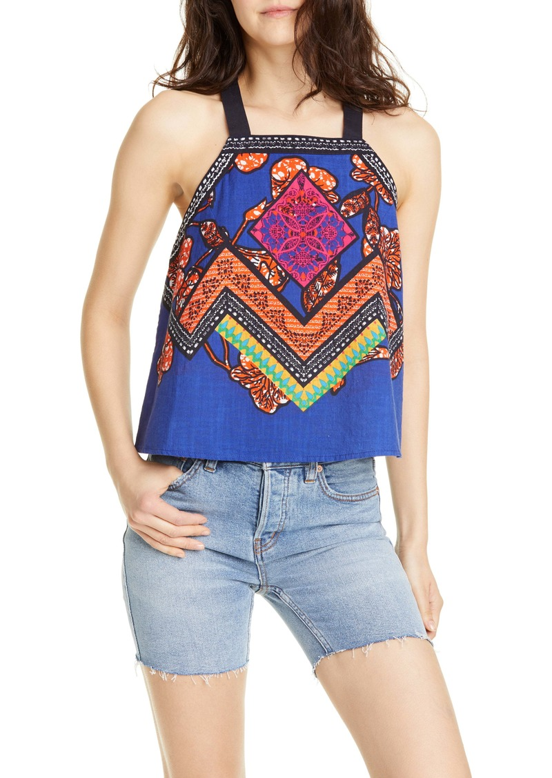 Free People Cool Cabana Embroidered Top