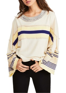Free People Cooper Stripe Bell Sleeve Top
