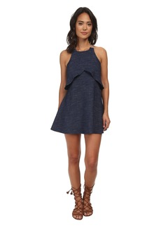 Free People Cotton Blue Sapphire Dress