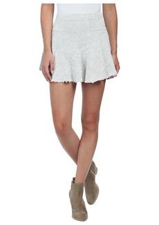 Free People Cotton Texture Sunshine Smile Skirt