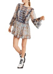 Free People Country Roads Long Sleeve Minidress