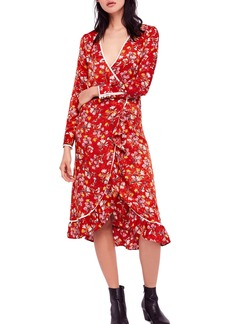 Free People Covent Garden Midi Wrap Dress