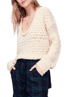 Free People Crashing Waves V-Neck Sweater