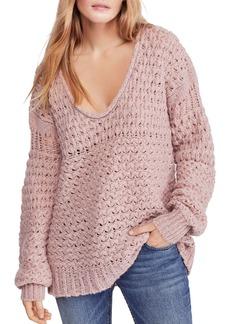 Free People Crashing Waves V-Neck Sweater
