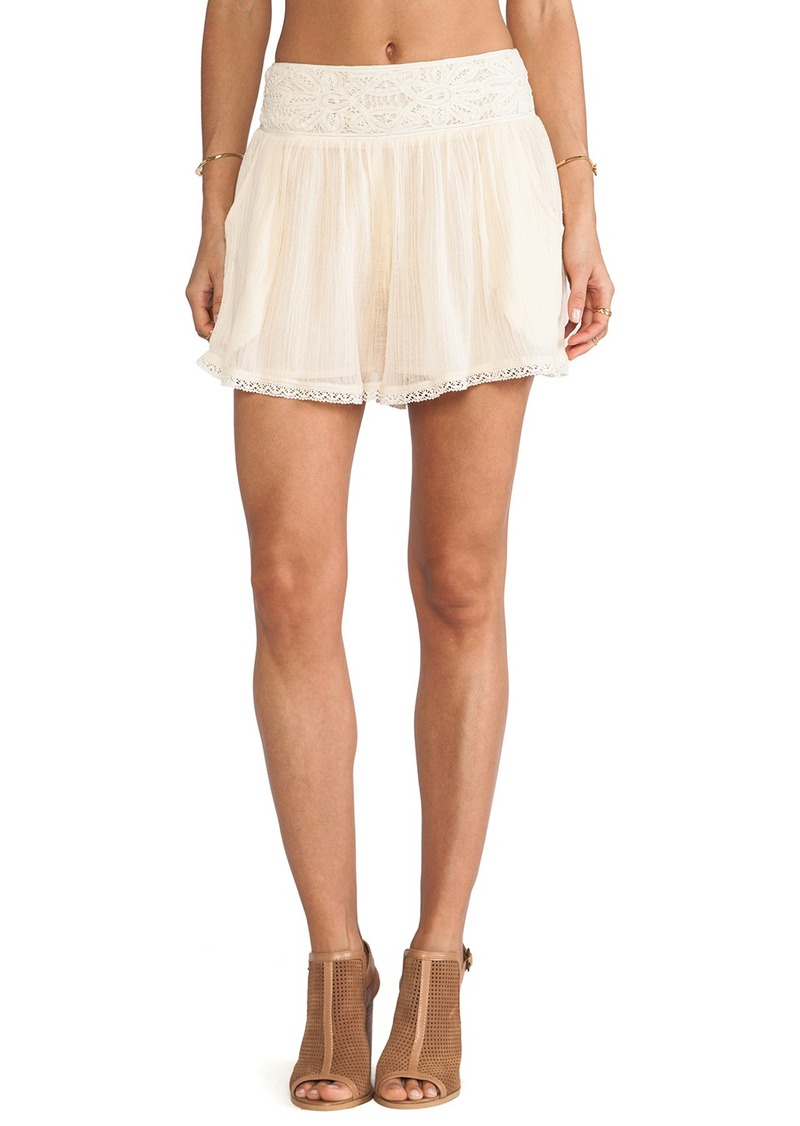 Free People Crochet Mid Rise Short