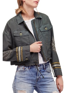 Free People Crop Military Jacket