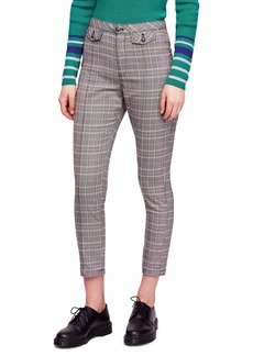 Free People Crop Plaid Trousers