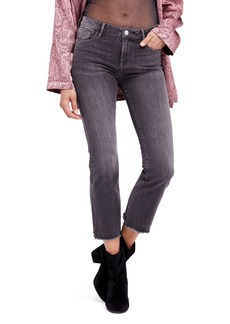 Free People Crop Straight Leg Jeans