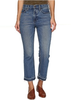 Free People Cropped Boot Jeans in Blue