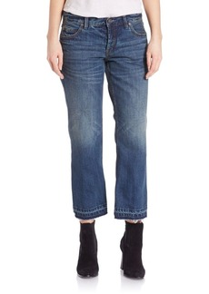 Free People Cropped Flare Boyfriend Jeans- Jacob Blue
