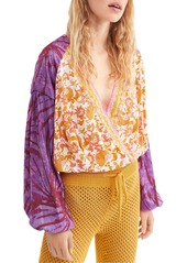 Free People Cruisin Together Mixed-Print Cropped Top