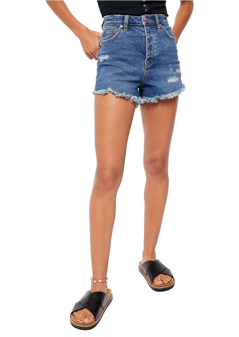 Free People Curvy High Waist Denim Shorts