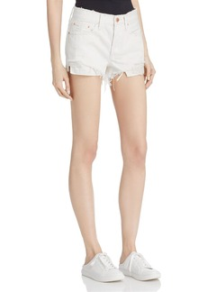 Free People Daisy Chain Crochet-Detail Denim Shorts