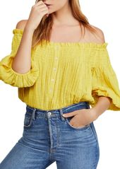 Free People Dancing Till Dawn Off-the-Shoulder Cropped Top