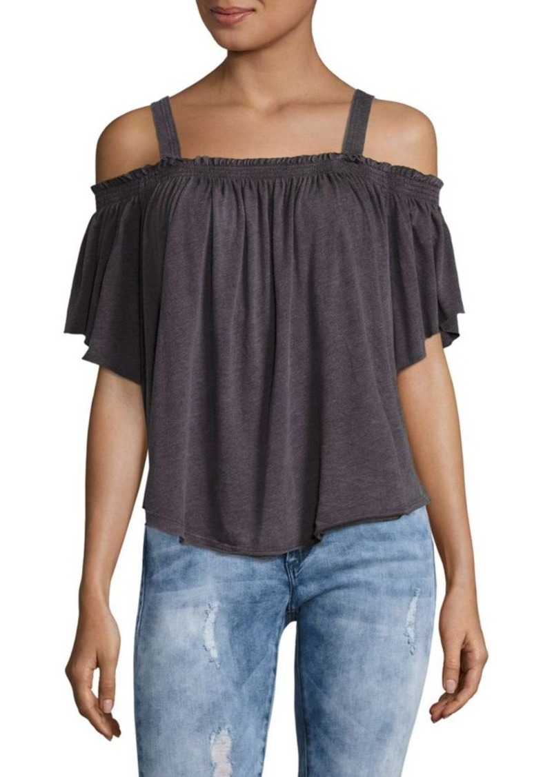 e95ebb0dfe4af1 Free People Free People Darling Cropped Cold Shoulder Top