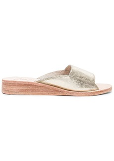 Free People Daybird Mini Wedge in Metallic Gold. - size 36 (also in 37,38,39,40,41)