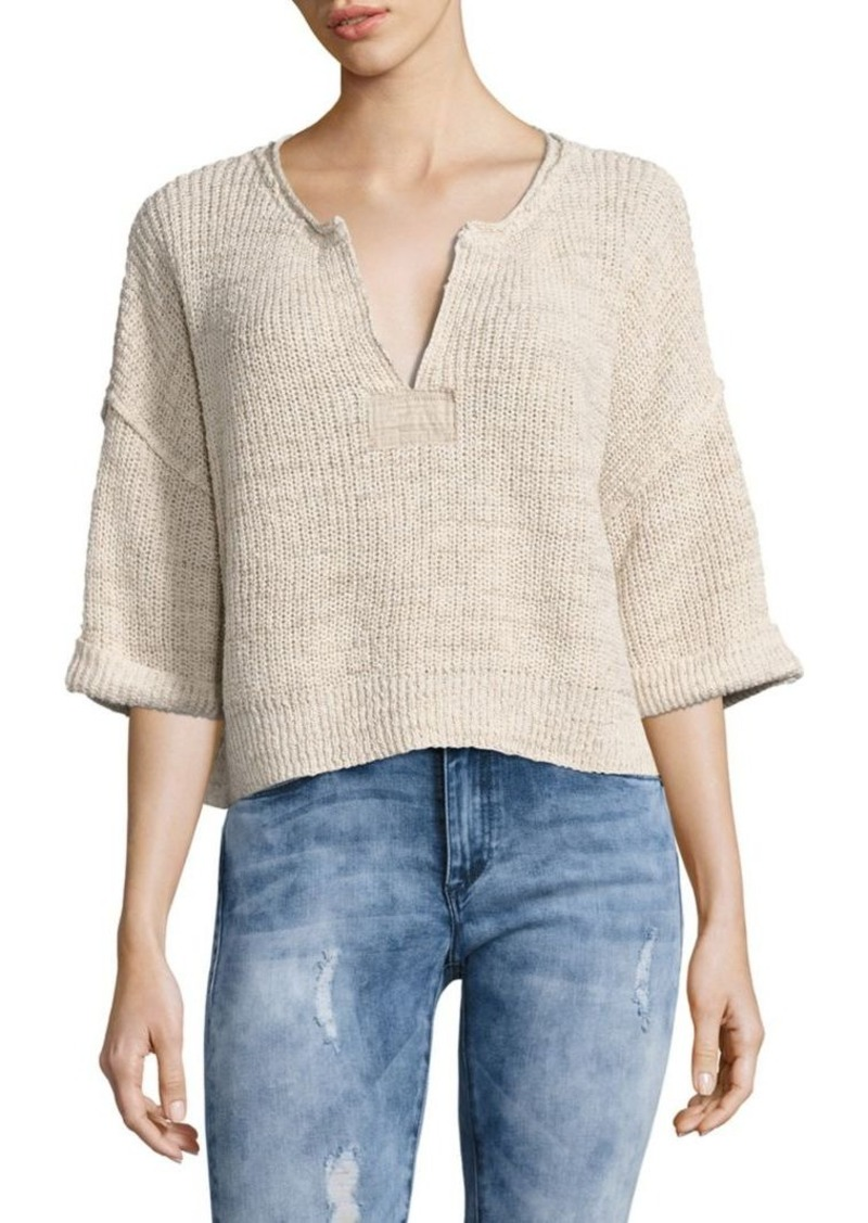 Free People Free People Daybreak Cropped Knit Sweater | Sweaters ...