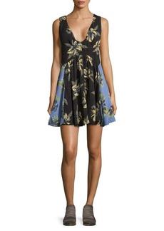 Free People Deep V-Neck Floral Dress