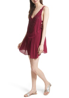 Free People Delphine Embellished Slipdress