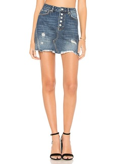 Free People Denim A-Line Mini Skirt