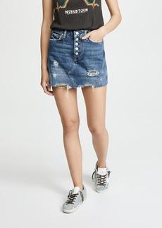 Free People Denim A-Line Miniskirt