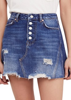 We the Free by Free People Denim A-Line Skirt