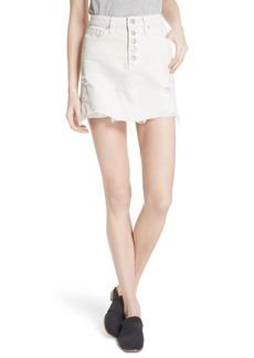 Free People Destroyed Denim Miniskirt