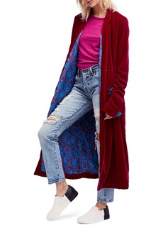 Free People Dhalia Velvet Duster