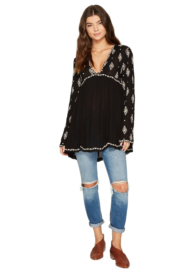 e5eb474be6f037 Free People Diamond Embroidered Top | Casual Shirts