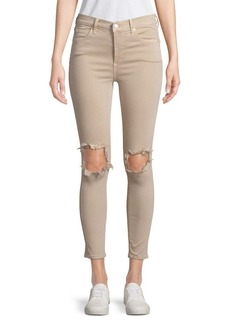 Free People Distressed High-Rise Skinny Jeans