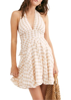 Free People Do the Twist Seersucker Halter Sundress