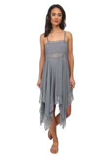 Free People Dobby Dot & Lace Pieced Trapeze Slip