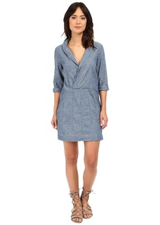 Free People Done Up Denim Mini Dress