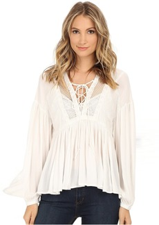 Don't Let Go Peasant Top