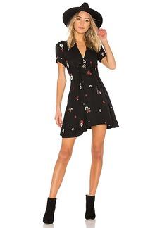 Free People Dream Girl Mini Dress in Black. - size 0 (also in 2,8)