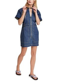 Free People Dream On Denim Minidress