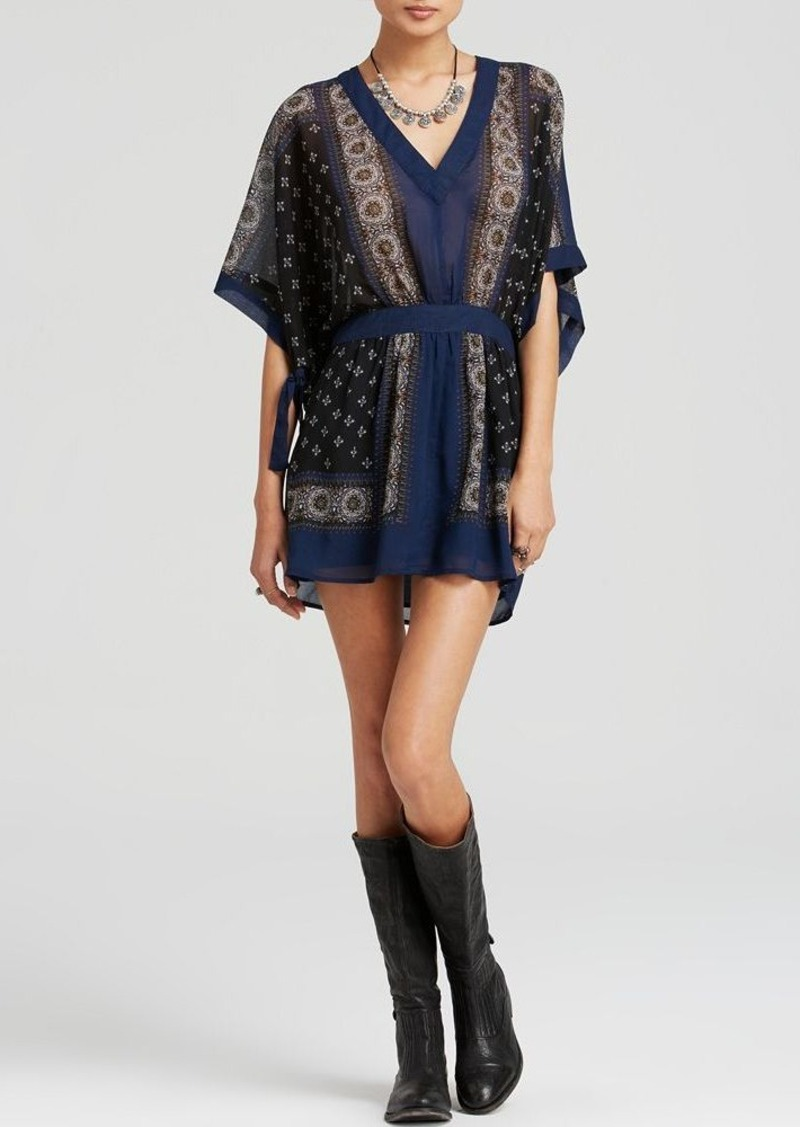 free people free people dress printed check santa cruz