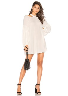 Free People Drift Away Solid Dress in Ivory. - size L (also in M,S,XS)