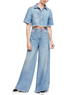 Free People Dust In The Wind Crop Top & Flare Jeans