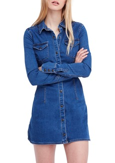 Free People Dynomite in Denim Minidress