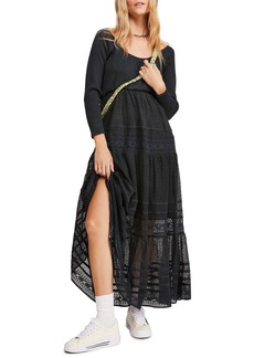 Free People Earth Angel Long Sleeve Midi Dress